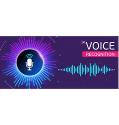 bright banner for voice and sound recording vector image