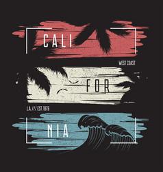 calofornia print with frame vector image