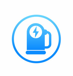 car charging station icon logo element vector image