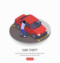 car theft crime vector image