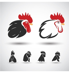 Chicken head3 vector image