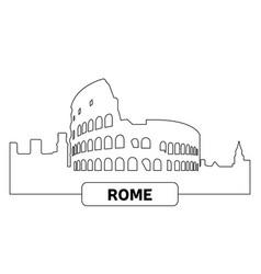 Cityscape rome vector