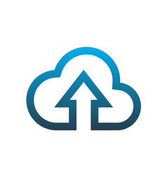 cloud computing data upload logo icon vector image