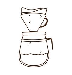 coffee brew method drip line icon style vector image
