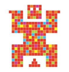 Coll pixel character in vector