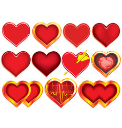 Collection of Hearts vector image