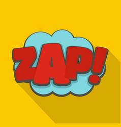 comic boom zap icon flat style vector image