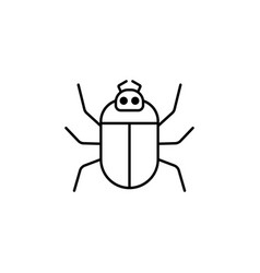 computer bug outline icon linear style sign for vector image