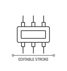 Connector linear icon vector