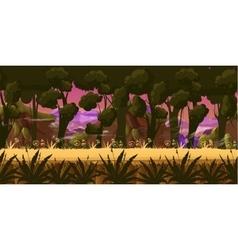 Dark Forest Background vector image