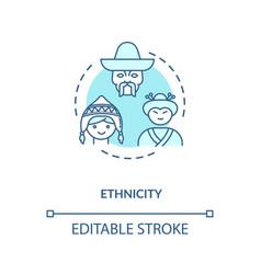 Ethnicity turquoise concept icon vector