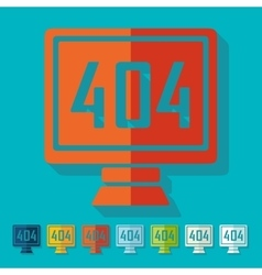 Flat design 404 error program error vector image