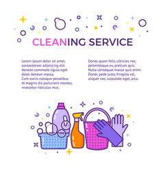 Flat design logo for cleaning service isolated on vector