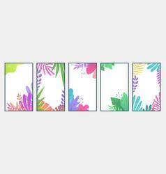 Flat minimal landscape cell phone botanic vector