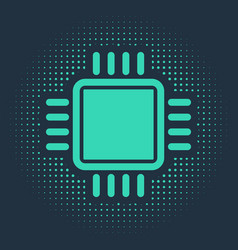 Green computer processor with microcircuits cpu vector