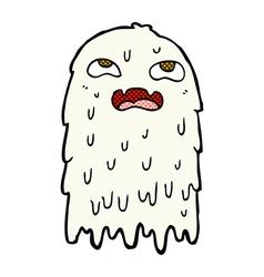 gross comic cartoon ghost vector image vector image