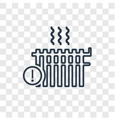 heating concept linear icon isolated on vector image