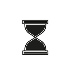 hourglass icon sand time clock vector image