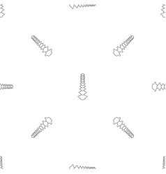 human spine pattern seamless vector image