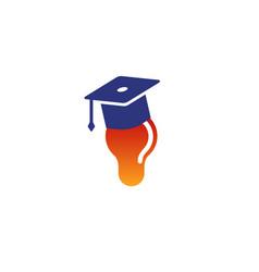 Idea school graduation symbol logo vector