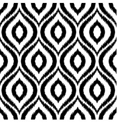 ikat damask seamless pattern vector image