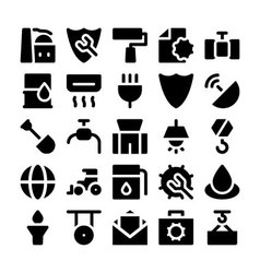 Industrial Colored Icons 4 vector image