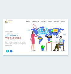 international business logistics worldwide vector image