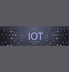 Internet of things iot and networking concept vector