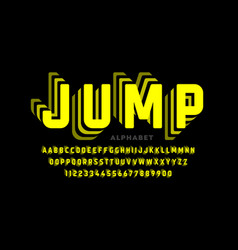 jumping style font design vector image
