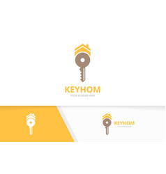 key and real estate logo combination lock vector image