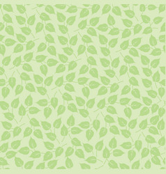 leaves seamless pattern beautiful floral leaf vector image