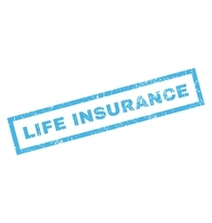 Life Insurance Rubber Stamp vector image