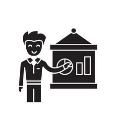 management report black concept icon vector image