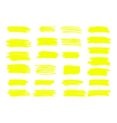 marker yellow lines highlighter brush vector image
