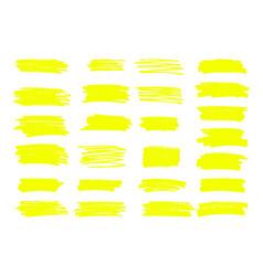 Marker yellow lines highlighter brush vector