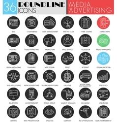 Media advertising blackliner vector
