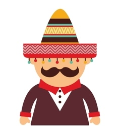Mexican man character icon vector