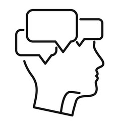 Mind mental chats icon outline style vector