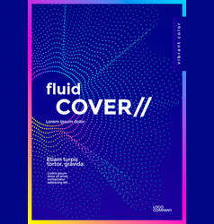 minimal cover design with gradient dotted shape vector image