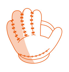 monocromatic baseball glove design vector image