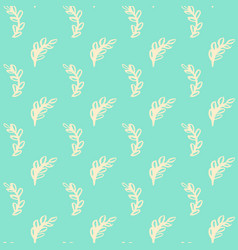 Natural leaf seamless pattern vector