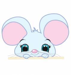 peeking mouse vector image
