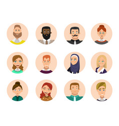 people avatars collection vector image