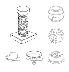 pet shop outline icons in set collection for vector image