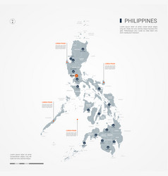 Philippines infographic map vector
