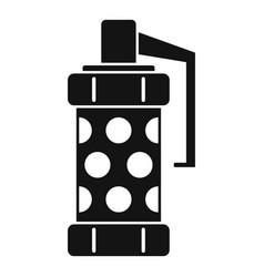 police smoke grenade icon simple style vector image