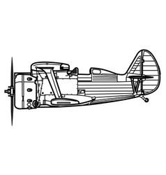 polikarpov i-153 chaika vector image