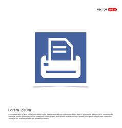 printer icon - blue photo frame vector image