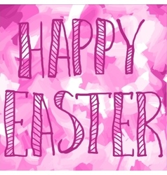 PrintHappy Easter Green on Pink Print Greeting vector