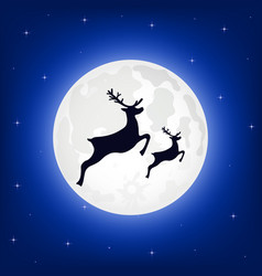 reindeer silhouette vector image